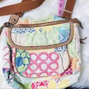 Fossil Original Brand Floral Canvas/Leather Purse